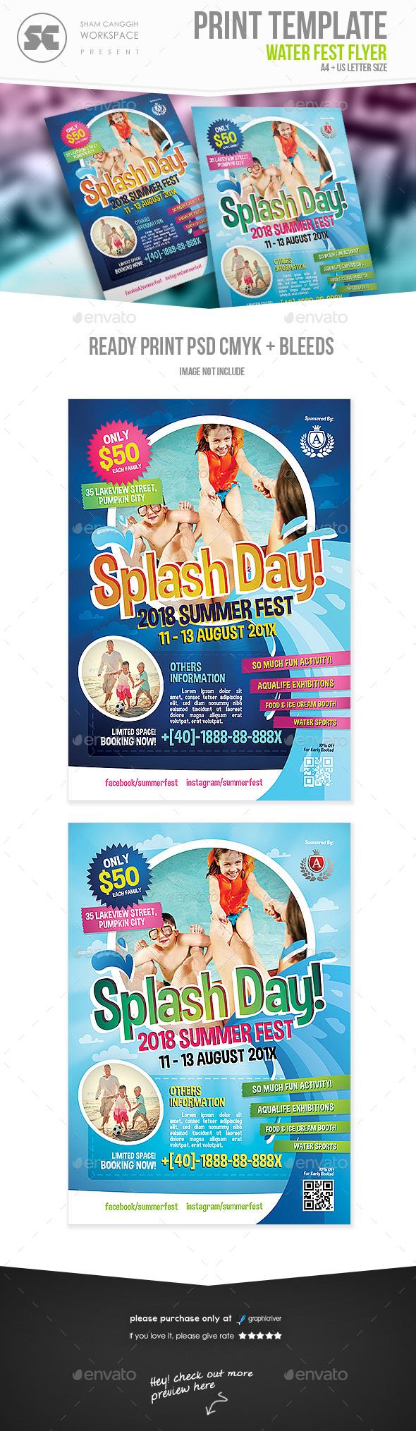 Water Fest Flyer
