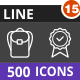 500 Vector Inverted Line Icons Bundle (Vol-15) - GraphicRiver Item for Sale