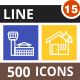 500 Vector Multicolor B/G Line Icons Bundle (Vol-15) - GraphicRiver Item for Sale