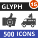 500 Vector Glyph Icons Bundle (Vol-15) - GraphicRiver Item for Sale