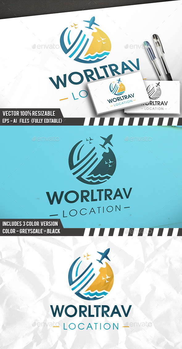 Summer Travel Logo - Objects Logo Templates