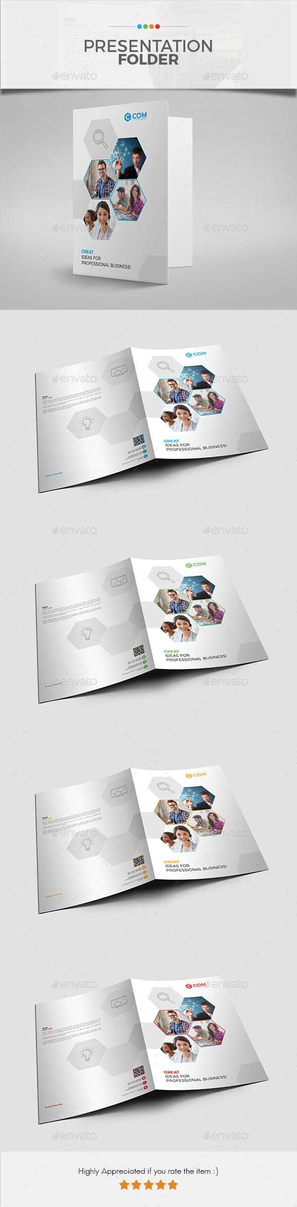 Corporate Presentation Folder 04 - Stationery Print Templates
