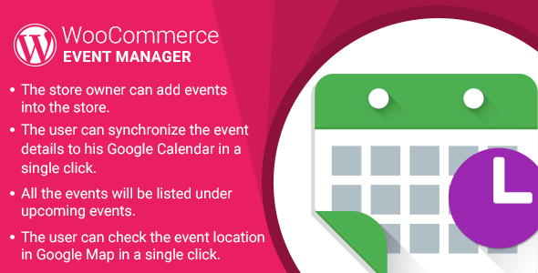 WordPress WooCommerce Event Manager Plugin - CodeCanyon Item for Sale