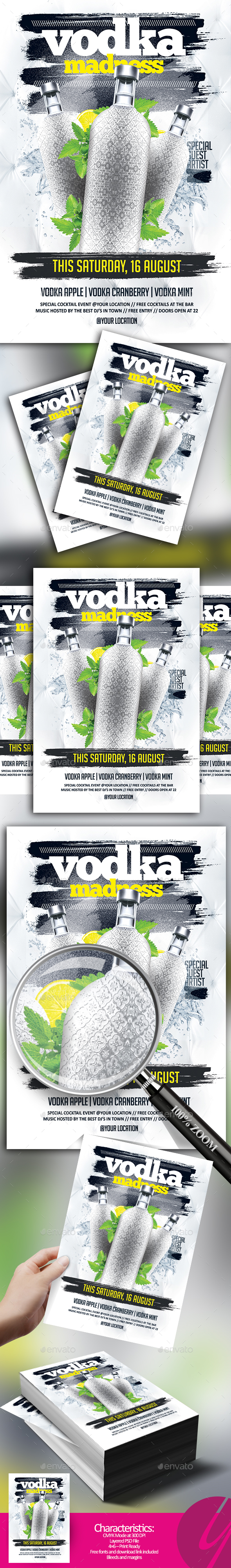 Vodka Madness Flyer - Clubs & Parties Events