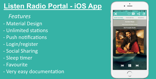 Listen Radio Portal - iOS App - CodeCanyon Item for Sale