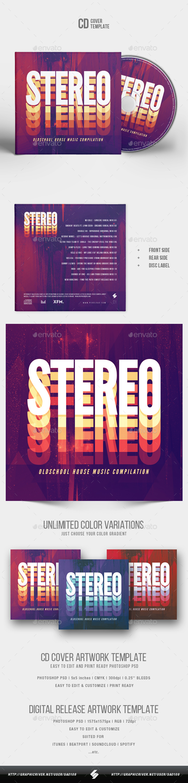 Stereo - CD Cover Artwork Template - CD & DVD Artwork Print Templates