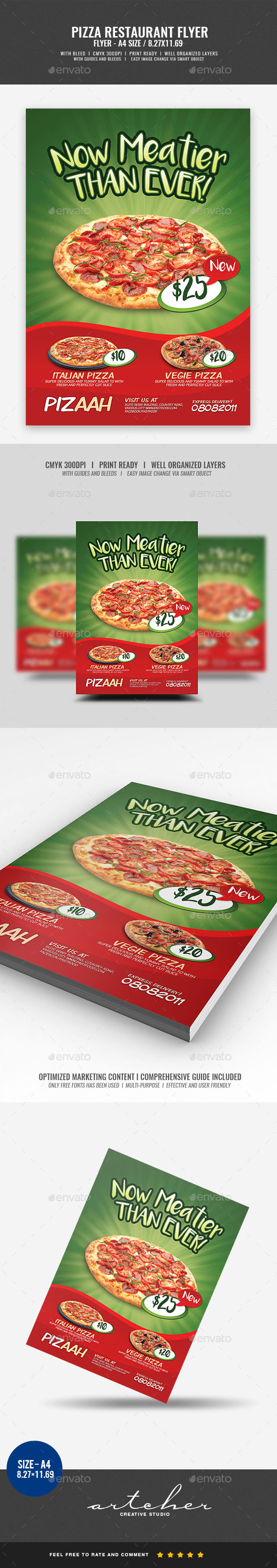 Pizza Restaurant Flyer - Restaurant Flyers