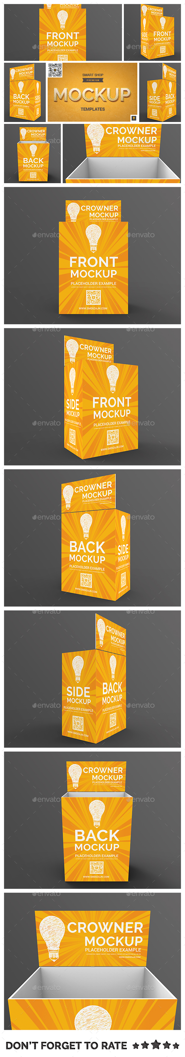 Store Palette with Crowner Mockup - Displays Product Mock-Ups