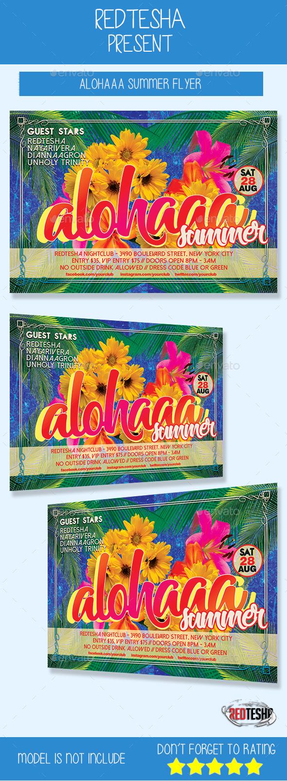 Alohaaa Summer - Events Flyers