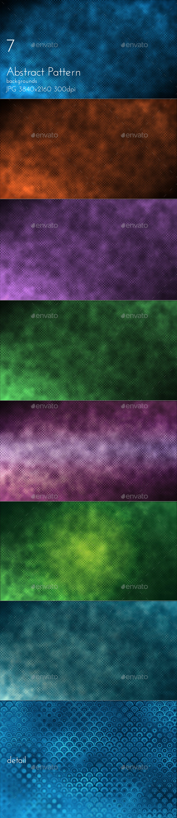Abstract Dark Pattern - Abstract Backgrounds