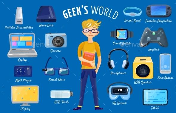 World Of Gadgets Set - Technology Conceptual
