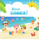Kids At The Beach - GraphicRiver Item for Sale