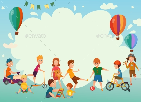Playing Kids Background - Backgrounds Decorative