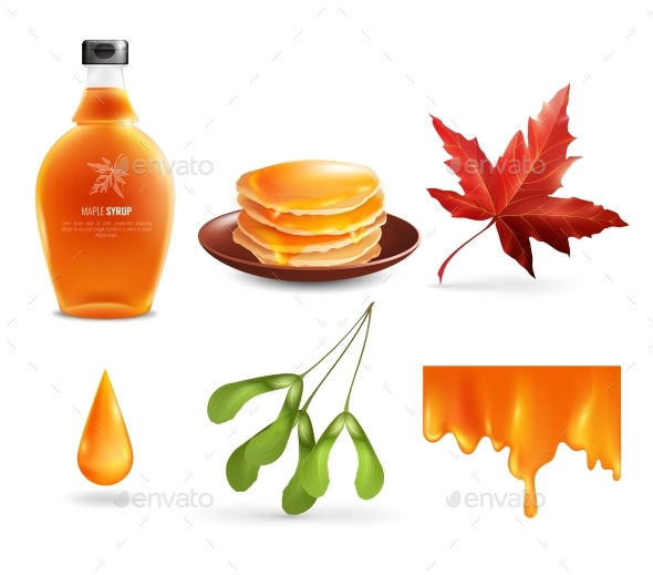 Maple Syrup Set - Food Objects