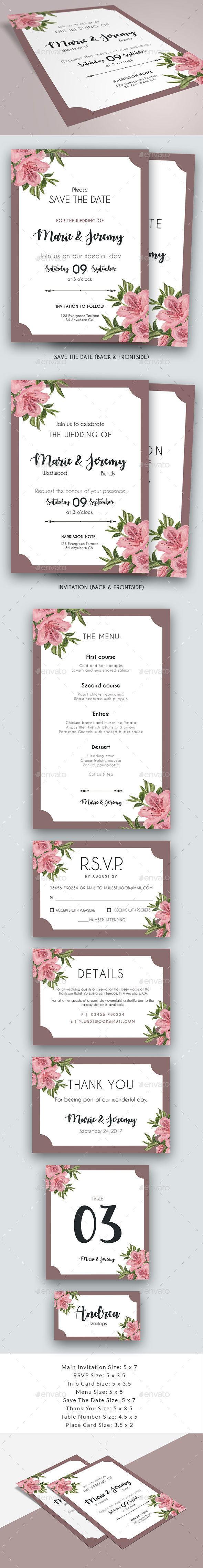 Lily - Wedding Collection - Weddings Cards & Invites
