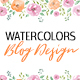 Watercolor Elements for Blog Design