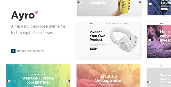 Ayro - A Fresh Theme for Tech and Digital Businesses - Technology WordPress