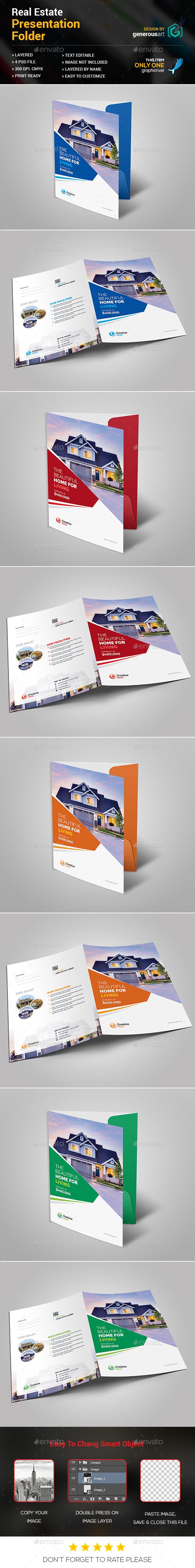 Real Estate Presentation Folder - Stationery Print Templates