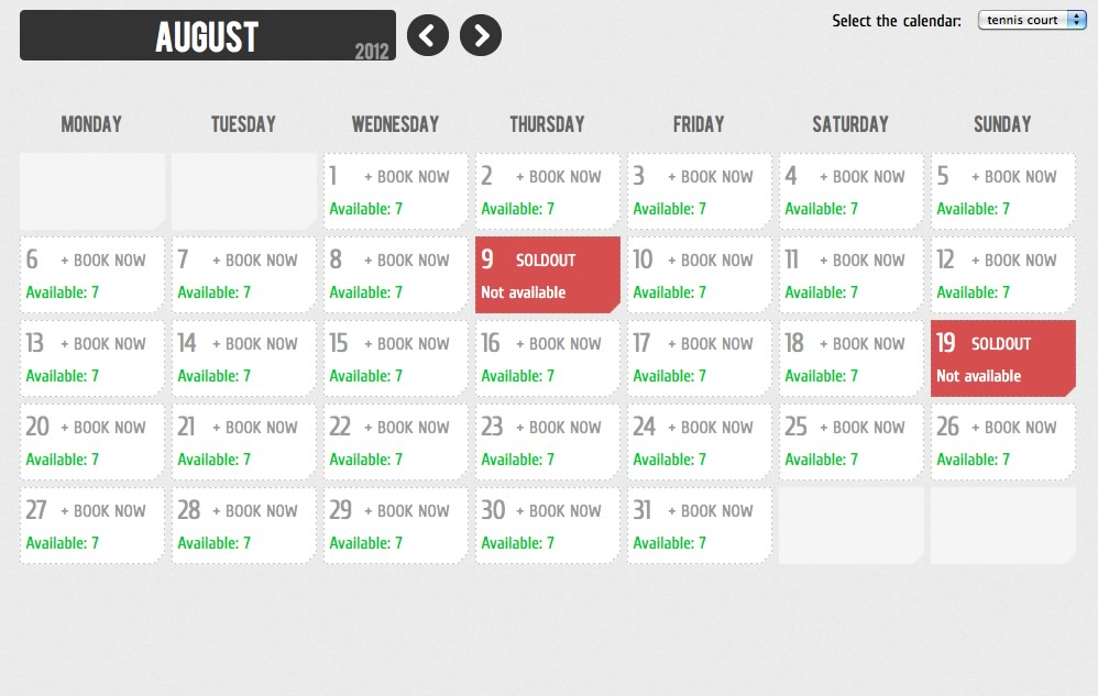 Calendar Booking System Php : Booking calendar by wachipi codecanyon