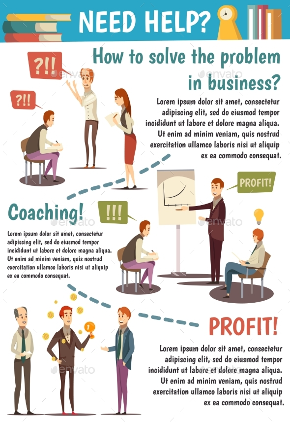 Business Trainings And Coaching Flowchart - Business Conceptual