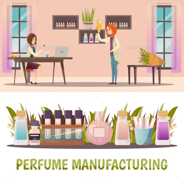 Perfume Shop Banner Set - Man-made Objects Objects
