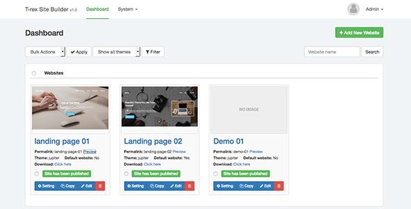T-rex Site Builder: Visual Site Builder v1.0