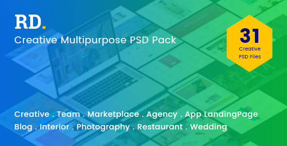 RD Multipurpose PSD Template - Corporate PSD Templates