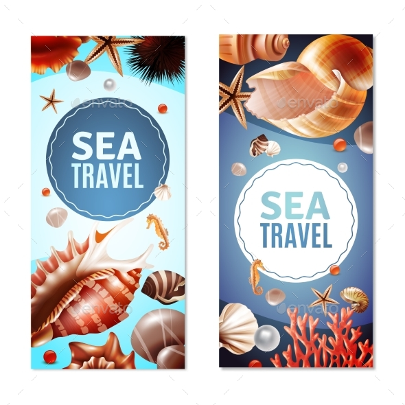 Seashell Banners Set - Animals Characters