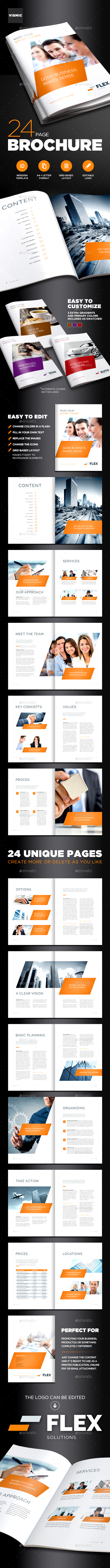 Business Brochure template for Indesign - A4 and Letter - Corporate Business Cards