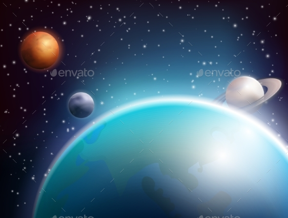 Colored Space Background - Backgrounds Decorative
