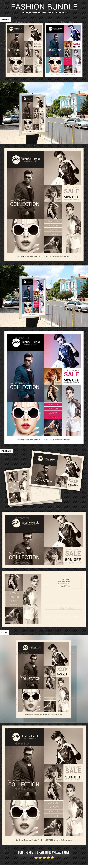 3 Fashion Poster Flyer Postcard Bundle 2 - Signage Print Templates