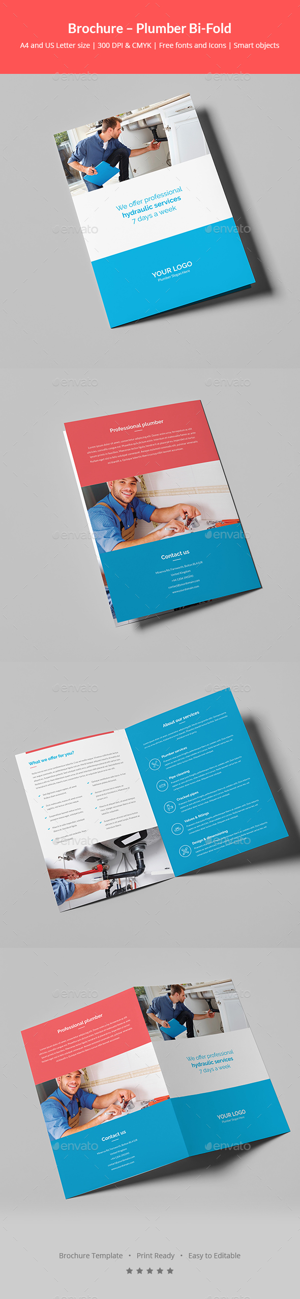 Brochure – Plumber Bi-Fold - Corporate Brochures