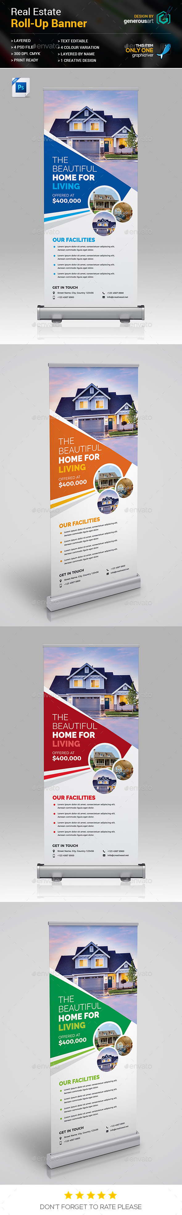 Real Estate Roll-up Banners - Signage Print Templates