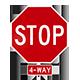 3D Stop Sign - 6 Renders