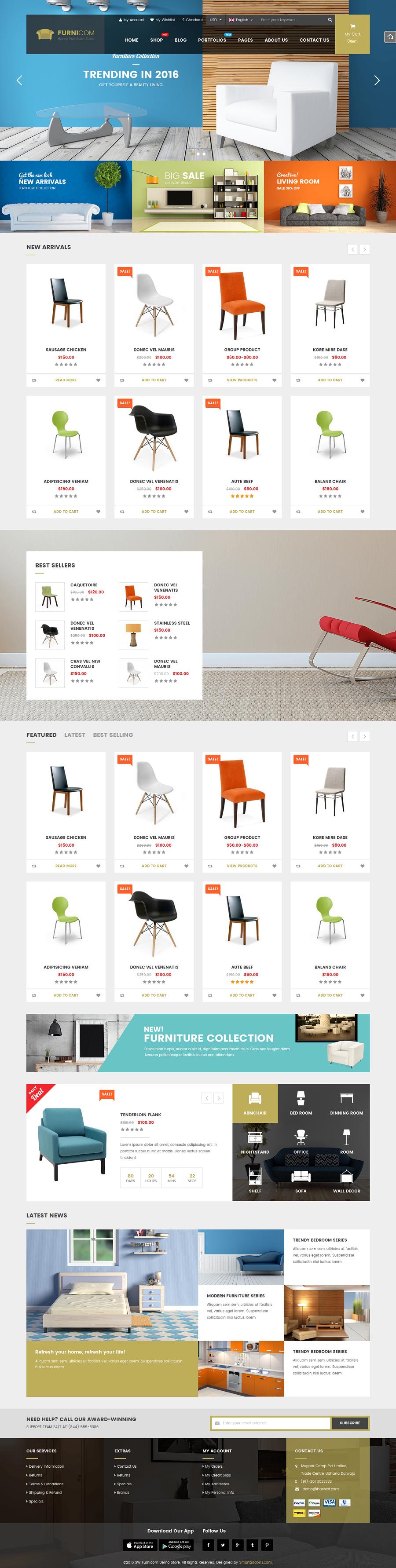 Furnicom   Fastest Furniture Store WooCommerce WordPress Theme (Mobile  Layouts Included)