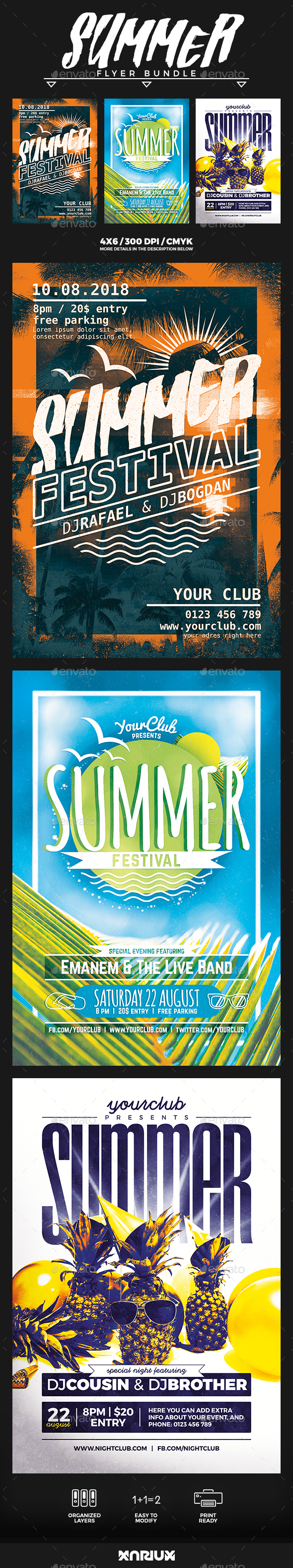 Summer Flyer Bundle - Events Flyers