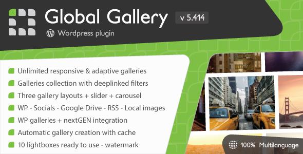 Global Gallery - Wordpress Responsive Gallery - CodeCanyon Item for Sale