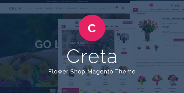 Creta - Flower Shop Responsive Magento Theme - Shopping Magento