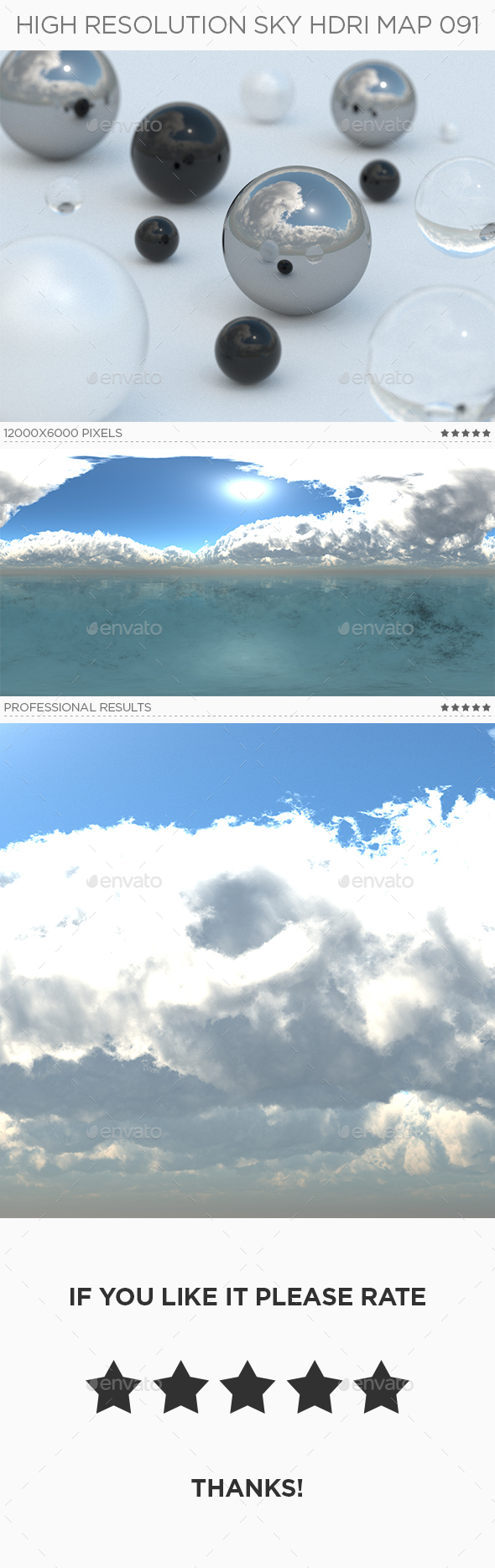 High Resolution Sky HDRi Map 091 - 3DOcean Item for Sale