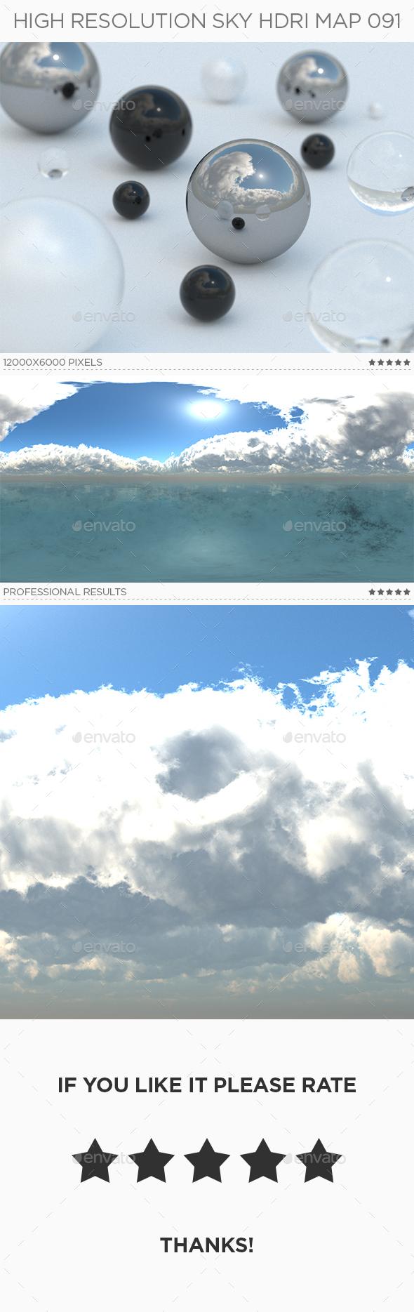 High Resolution Sky HDRi Map 091 - 3DOcean Item for Sale