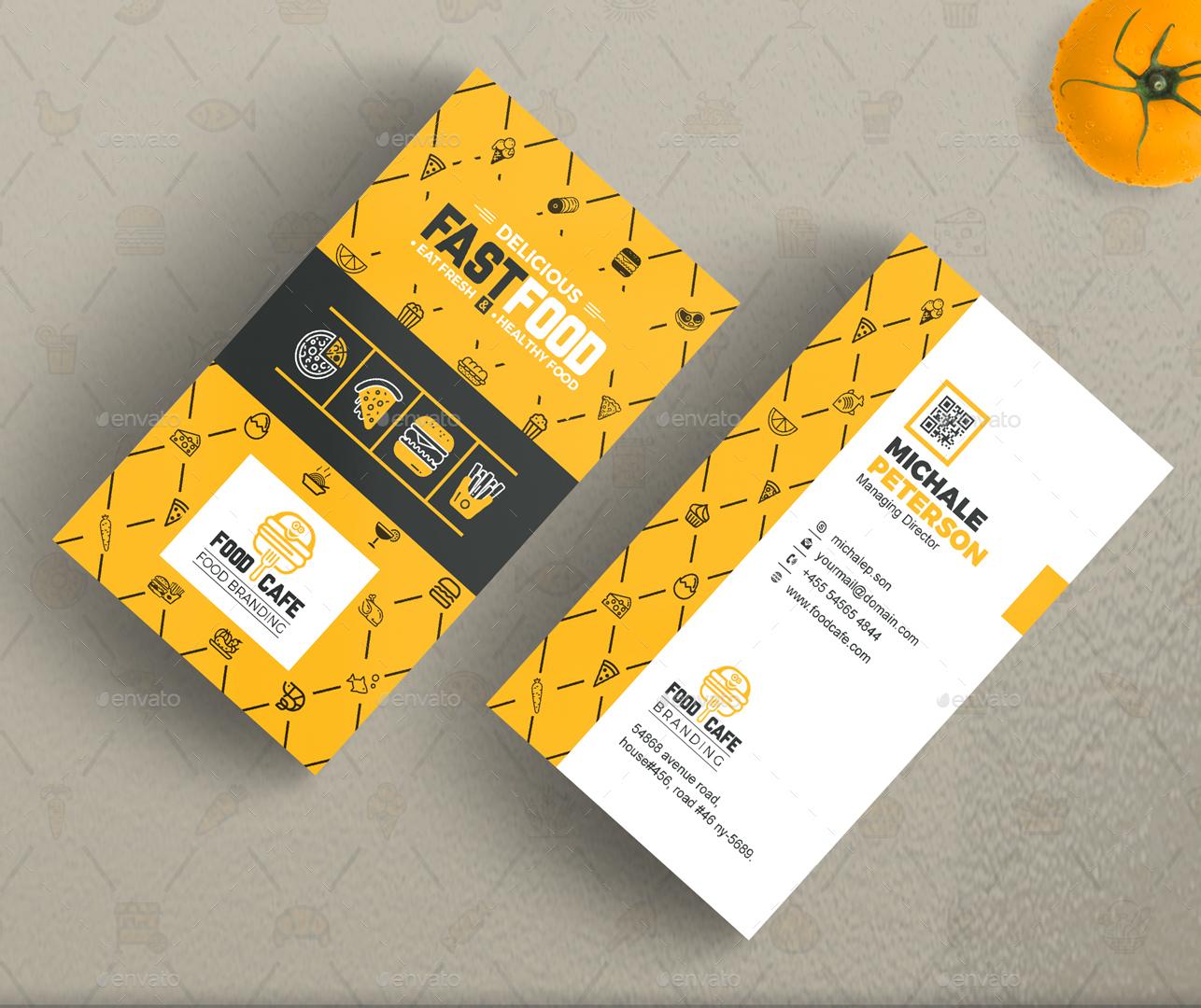 Business card designs restaurants gallery card design and card food business card template 100 images business cards fast food business card template business card design magicingreecefo Image collections
