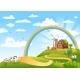 Happy Farm Vector Illustration.