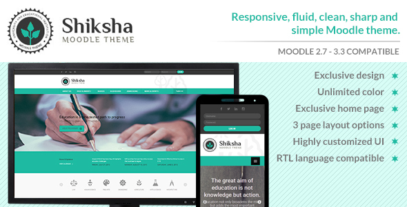 Download Shiksha - Responsive Moodle Theme nulled version