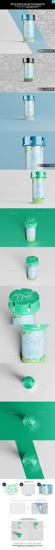 Matte Plastic Pill Bottle Mockup 03 - Miscellaneous Packaging