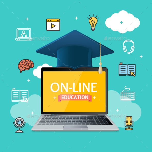 Education Online Concept - Web Technology
