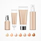Realistic Empty Template Foundation Cream Package Set