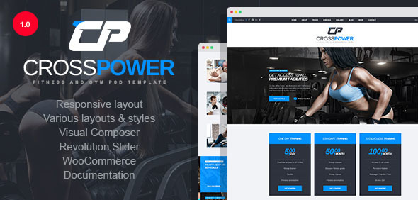 CrossPower - Sport Gym Fitness WordPress Theme - Health & Beauty Retail