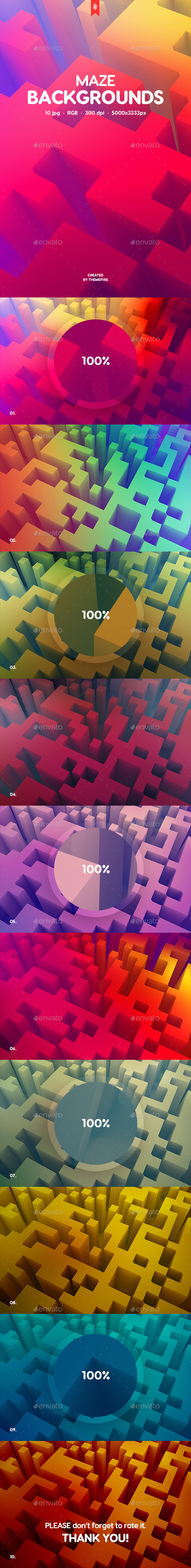 Maze Backgrounds - Abstract Backgrounds