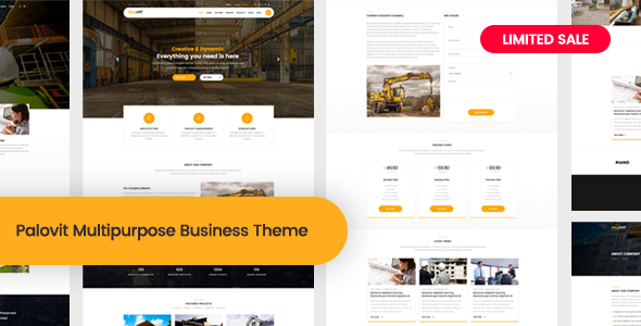 Image of Palovit - Construction, Building Business WordPress Theme