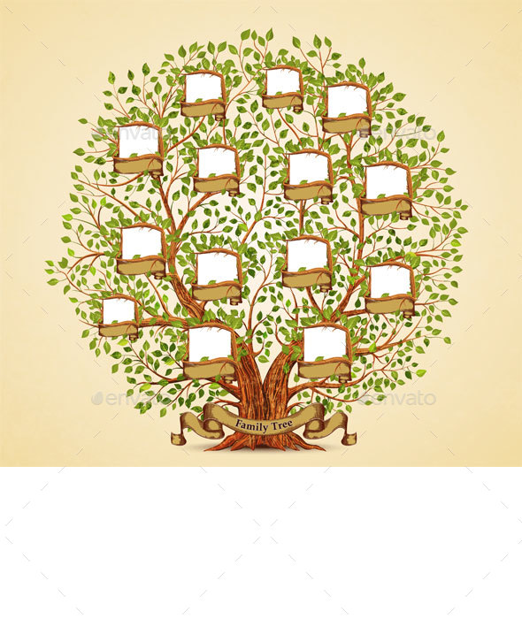 Family Tree Template - Flowers & Plants Nature